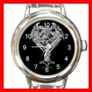 Cross Sign Dragon Myth Round Italian Charm Wrist Watch 555