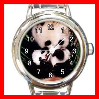 Panda Animals Hobby Round Italian Charm Wrist Watch 565