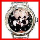 Panda Animals Hobby Round Italian Charm Wrist Watch 565