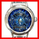 Firefighter Fire Fighter Round Italian Charm Wrist Watch 569