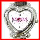 MOM Love Mother Heart Italian Charm Wrist Watch 151