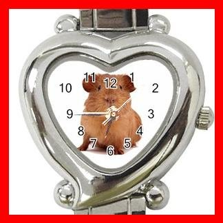 Guinea Pig Pet Animal Heart Italian Charm Wrist Watch 154