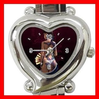 Dragon Lady Asia Myth Heart Italian Charm Wrist Watch 164