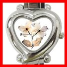 Dogwood Flowers Heart Italian Charm Wrist Watch 169