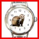 Cute Ferret Pet Animals Heart Italian Charm Wrist Watch 171