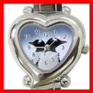 PENGUINS Couple Animals Heart Italian Charm Wrist Watch 173
