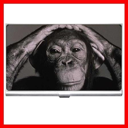 Chimpanzee Money Animals Hobby Business Credit Card Case 11