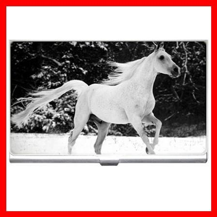 White Horse Animals Hobby Business Credit Card Case 18