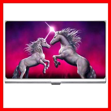 Unicorn Dance Myth Hobby Business Credit Card Case 19