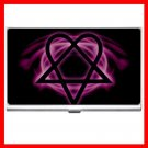 Pink Heartagram Hobby Business Credit Card Case 23