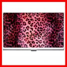 Pink Leopard Skin Print Business Credit Card Case 24