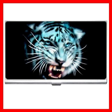 White Tiger Wild Animal Hobby Business Credit Card Case 26