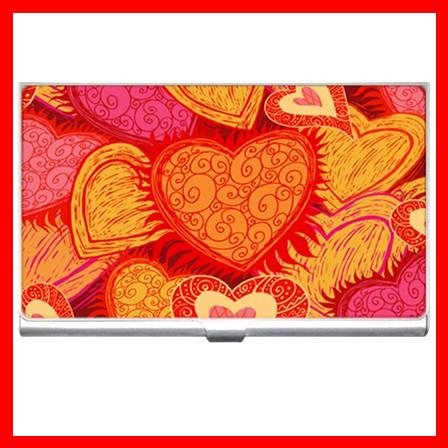 Love Hearts Heart Hobby Business Credit Card Case 32