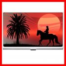 Wild Horse Red Sunset Hobby Business Credit Card Case 41