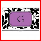 "Name Initials Letter ""G"" Hobby Business Credit Card Case 76"