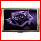 Purple Rose Flowers Hobby Cigarette Money Case 045