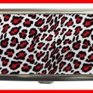 Red Leopard Skin Print Hobby Cigarette Money Case 062
