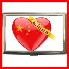China Heart Love Flag Nation Patriotic Hobby Cigarette Money Case 078