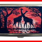 Giraffes Sunset Animals Hobby Cigarette Money Case 081