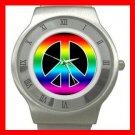 RAINBOW PEACE SIGN Hobby Steel Wrist Watch Unisex 145