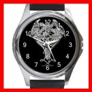 Cross Sign Dragon Myth Round Metal Wrist Watch Unisex 145