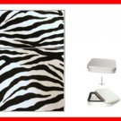 Zebra Skin Print Hobby Flip Top Lighter + Box New Gift 014