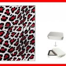 Red Leopard Skin Print Hobby Flip Top Lighter + Box New Gift 023