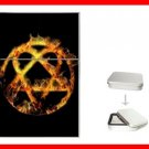 Golden Fire Heartagram Hobby Flip Top Lighter + Box New Gift 026