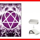 Pink Heartagram Hobby Flip Top Lighter + Box New Gift 028