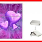 Purple Heart Love Hobby Flip Top Lighter + Box New Gift 032
