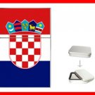 Croatia Flag Nation Hobby Flip Top Lighter + Box New Gift 036