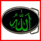 Allah Green God Hobby Fun Belt Buckle 006