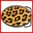 Leopard Skin Photo Wild Animal Print Pattern Hobby Fun Belt Buckle 009