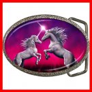 Unicorn Dance Myth Mystic Fantasy Belt Buckle 010