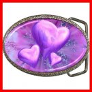 Purple Heart Love Fantasy Hobby Fun Belt Buckle 011