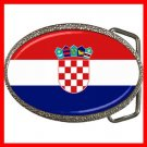 Croatia Flag Pan Slavic Patriotic Hobby Belt Buckle 015