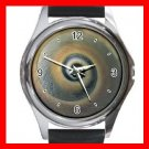 Snail Shell Print Hobby Round Metal Wrist Watch Unisex 151