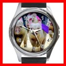 Cute Pig Race Animals Hobby Round Metal Wrist Watch Unisex 152