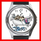 PET GROOMING CAT DOG BATH Round Metal Wrist Watch Unisex 166