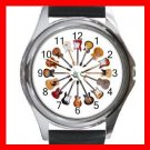 Guitars Circle Music Hobby Round Metal Wrist Watch Unisex 169