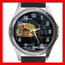 CSX SD-70 DIESEL ENGINE TRAIN Round Metal Wrist Watch Unisex 174