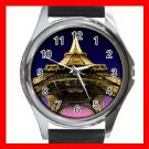 Eiffel Tower Paris France Round Metal Wrist Watch Unisex 179