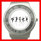Skating Sports Game Hobby Stainless Steel Wrist Watch Unisex 146