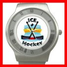 Ice Hockey Sports Game Stainless Steel Wrist Watch Unisex 149