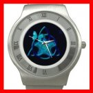 Blue Butterfly Triangle Star Stainless Steel Wrist Watch Unisex 156