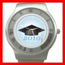 2010 Graduation Cap Student Stainless Steel Wrist Watch Unisex 162
