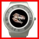 T-REX SKULL PALEONTOLOGY DINOSAUR Stainless Steel Wrist Watch Unisex 164