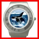 Emerging Killer Whale Marine Stainless Steel Wrist Watch Unisex 166