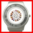 Guitars Circle Music Hobby Stainless Steel Wrist Watch Unisex 168