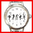 Skating Sports Game Hobby Round Italian Charm Wrist Watch 561